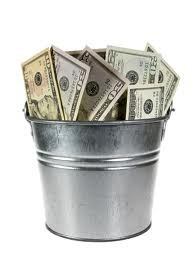 Bucket full of money