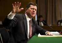 Sullivan & Cromwell partner Jay Clayton testifies before the Senate Committee on Banking, Housing, and Urban Affairs during his confirmation hearing to become the next Chairman of the U.S. Securities and Exchange Commission in Washington.  March 23, 2017.